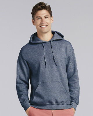 Gildan Adult Heavy Blend Pullover Hooded Sweatshirt Plain Hoodie top 2