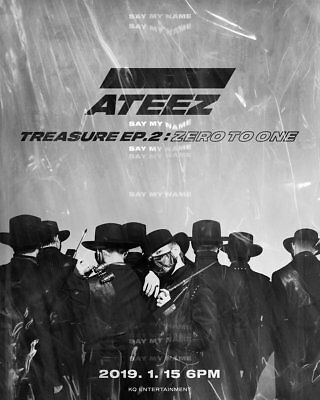 ATEEZ TREASURE EP.2:ZERO TO ONE 2nd Mini Album CD+Buch+Sticker+Poster+15p Karte