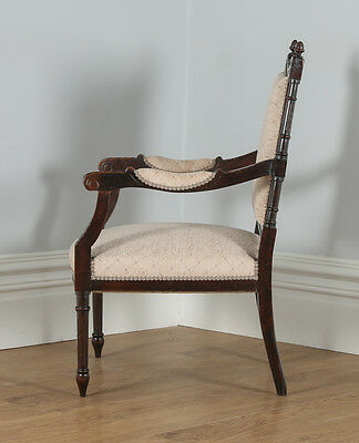 Antique French Louis XVI Style Walnut Salon Occasional Armchair (Circa 1880) 10