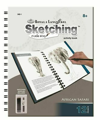 Animals Sketching Made Easy Drawing Kits & Graphite Pencils Set 6