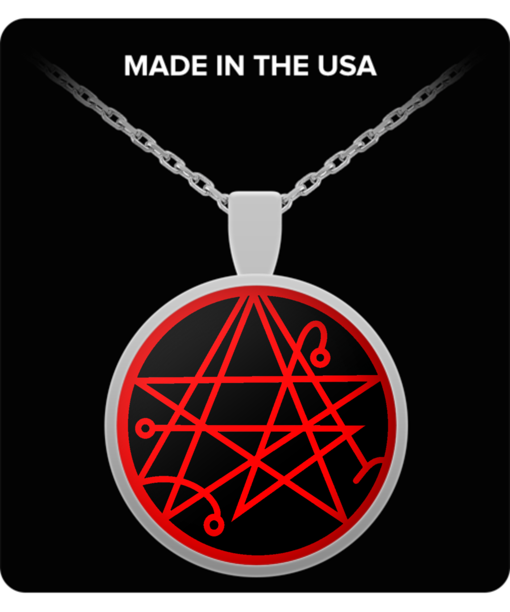 ESOTERIC NECKLACE - Necronomicon gate symbol H P  Lovecraft Cthulhu old God  gift