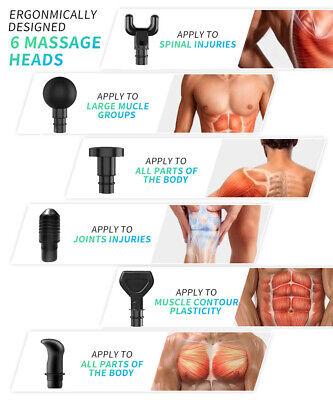 Massage Gun Percussion Massager Tissue Muscle Vibrating Relaxing Like Hypervolt 4
