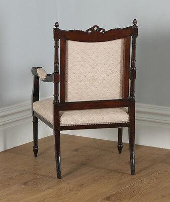 Antique French Louis XVI Style Walnut Salon Occasional Armchair (Circa 1880) 11