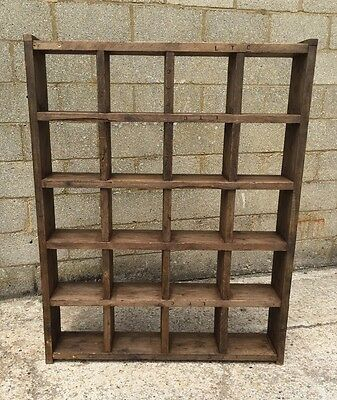Industrial Up-Cycled Pigeon Hole Shelving Unit 6