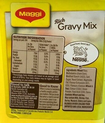 Maggi Classic Rich Gravy Mix 1kg [Long Expiry Date] Made in NZ -New 3