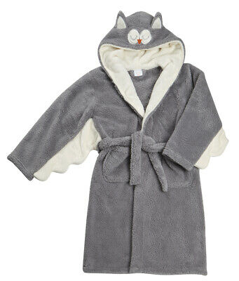 Kids Childrens Novelty Dressing Gown Robe Fun Fleece Character Design Ages 2-13 5