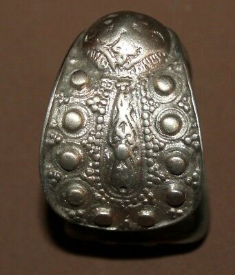Antique Greek Orthodox folk silver fertility bracelet