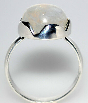Mystic Moonstone Natural Gemstone Rings 925 Sterling Silver Ring All Sizes L - Z 9