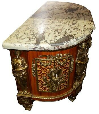 French Louis XVI Cabinets, a Pair, Large with Marble Top #5969 4