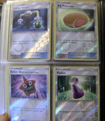 full Folder sun & moon pokemon cards huge bundle no doubles lots rare/holo/GX 2 12