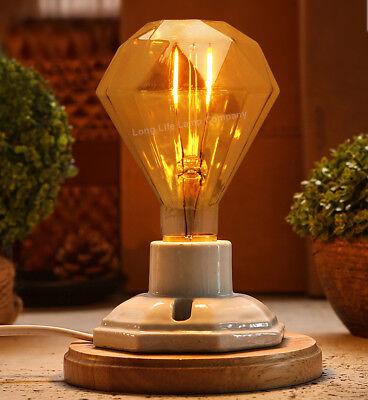 Vintage LED 2W Edison Style Filament Light Bulb B22 or E27 Twister ST58 A60 G95 4