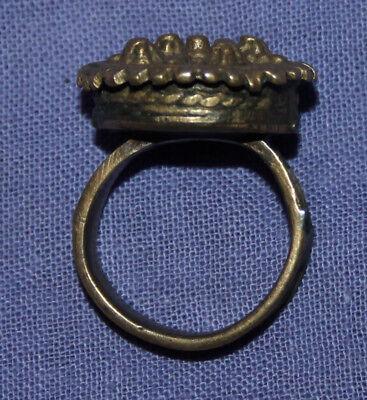 Antique Medieval crusader bronze ring 2