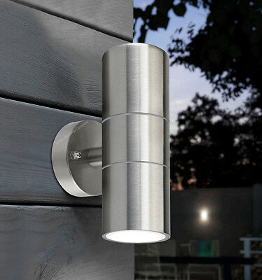 Stainless steel up down wall light gu10 ip65 double outdoor wall 2 of 12 stainless steel up down wall light gu10 ip65 double outdoor wall light zlc03 aloadofball Gallery