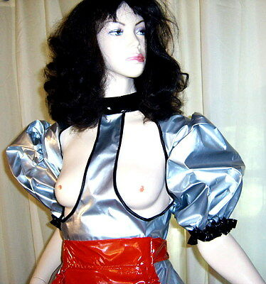 Lackoverall ,Busenfreier Overall, alle Größen,Vinyloverall long with open Breast 12