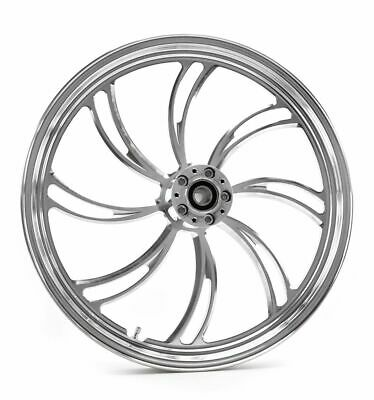 "Black Vortex 21/"" 3.5/"" Billet Front Wheel Rim Harley Touring Custom Dual Disc"