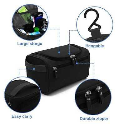 Men Business Travel Cosmetic Bag Make Up Toiletry Storage Dry Wet Pouch Wash Bag 7