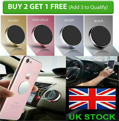 In Car Magnetic Phone Holder Fits Dashboard Universal Mount Various Colours 5