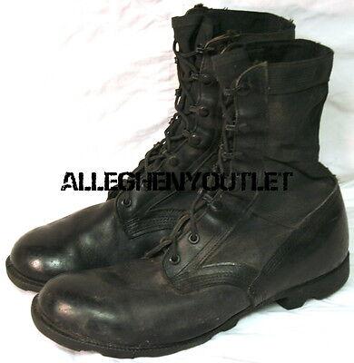 ... US Military NYLON JUNGLE COMBAT BOOTS Panama Sole Black 5 584d5851afa