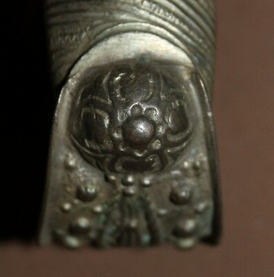 Antique Greek Orthodox folk silver plated fertility bracelet 8