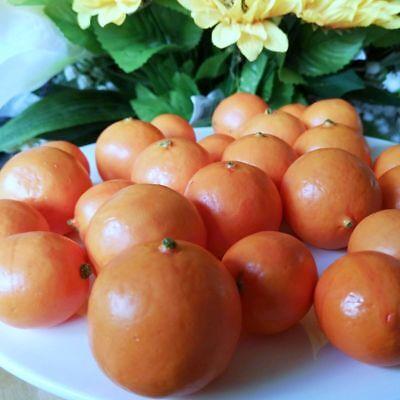 24 X kleine Mandarinen Mineolas DEKO Obst Attrappen Dekoration Kunstobst Früchte 2
