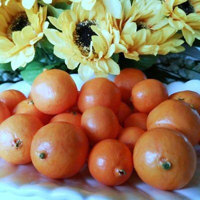 24 X kleine Mandarinen Mineolas DEKO Obst Attrappen Dekoration Kunstobst Früchte 4