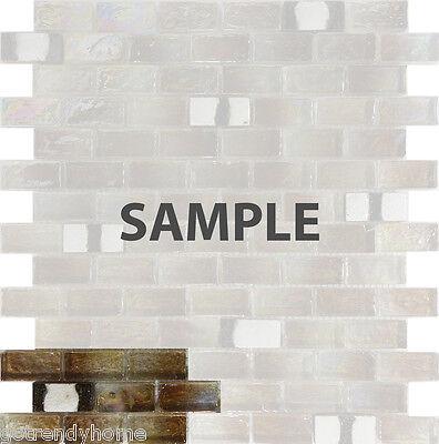 Sample Brown Iridescent Gl Mosaic Tile Kitchen Backsplash