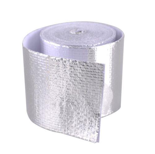 16ft Silver Fiberglass Wrap Barrier Tape Heat Shield Roll Exhaust Tape For Car 6