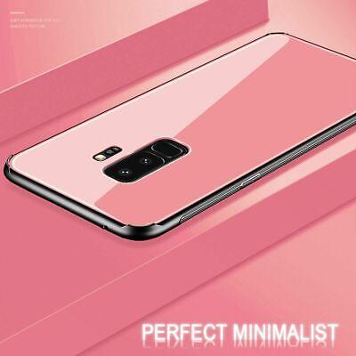Samsung Galaxy S10 S9 Plus S10e Note 9 Case Slim Bumper Cover Tempered Glass 3
