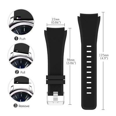 For Samsung Gear S3 Frontier / Classic Replacement Silicone Sports Band Strap 8