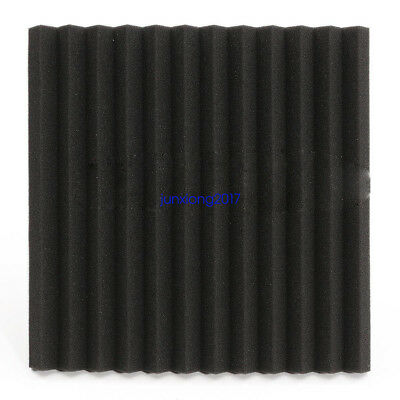 """96 PACK 12""""X 2""""X1"""" Acoustic Foam Panel Wedge Studio Soundproofing Wall Tiles 5"""