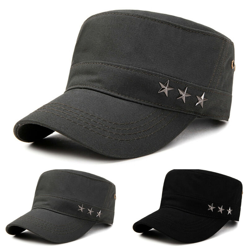 Classic Mens Women Army Military Cadet Combat Cap Sun Adjustable Sport Plain Hat 2