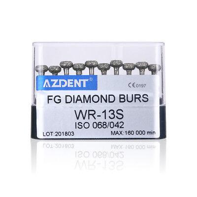 20Types Dental High Speed Handpiece Diamond Burs Drills 10pcs/pack AZDENT 4