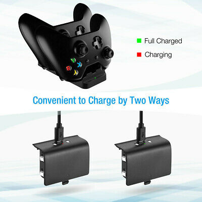 For XBOX ONE Dual Charging Dock Station Controller Charger Rechargeable Battery 3
