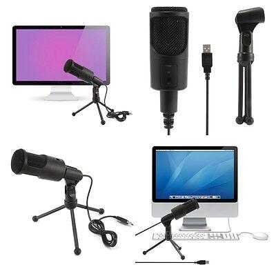 USB Condenser Studio Sound Recording Microphone Mic + Shock Mount Tripod Stand 2
