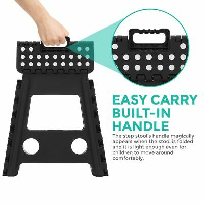 Multi Purpose Plastic Folding Step Stool Home Kitchen Easy Storage Foldable Seat 4