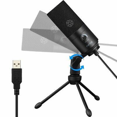 USB-Mikrofon Kondensatormikrofon für PC Laptop Aufnahmemikrofon Kardioid Studio 6