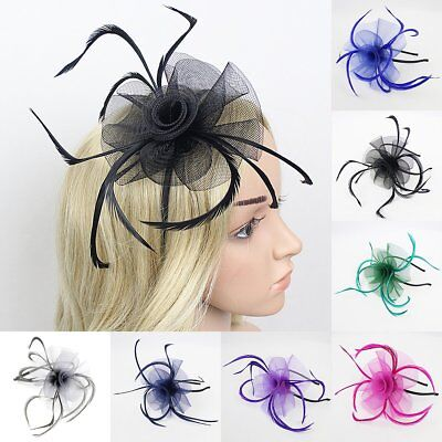 Feather Looped Headband Alice Band Fascinator Ladies Day Wedding Royal Ascot 3