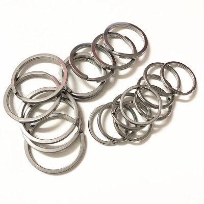 15~35MM Stainless Steel Strong Solid Split Key Ring Flat Keyring Keychain Holder 6