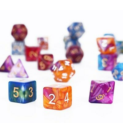 42pcs Polyhedral Dice for Dungeons and Dragons DND RPG D20 D12 D10 D8 D6 D4 Game 3