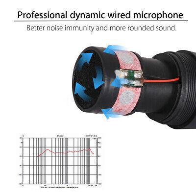 Microphone à Main Filaire Professionnel Micro Unidirectionnel Dynamique Karaoké 4
