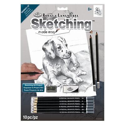 Animals Sketching Made Easy Drawing Kits & Graphite Pencils Set 3