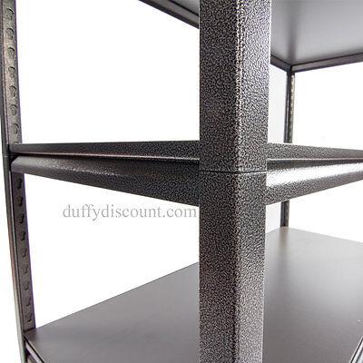 Concealed Rivet Industrial Boltless Shelving 1830x1219x610mm 300kg UDL 5 Levels 5
