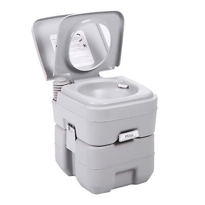 5 Gallon 20L Portable Toilet Flush Commode Camping Outdoor/Indoor Commode Potty 2