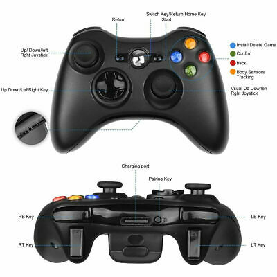 Wired / Wireless Game USB Controller Gamepad Joystick For Microsoft Xbox 360 &PC 3