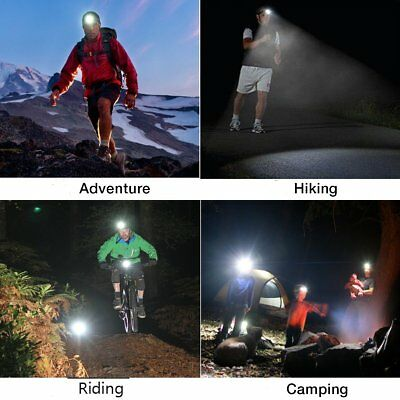 Super-bright 100000LM T6 LED Headlamp Headlight Torch Rechargeable Flashlight 10