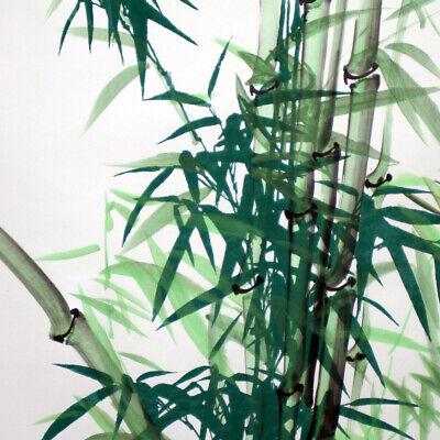 """Bildrolle Hängerolle mit Kalligraphie groß Chinesisches Rollbild /""""Bambus/"""" grün"""