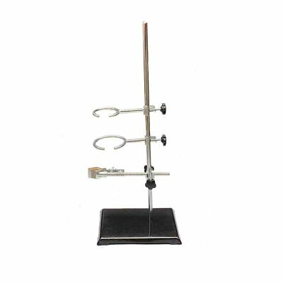 """Laboratory Stand Lab Holder Clamp Flask/Condenser/Tube Iron 50cm/19.7"""" Height 5"""