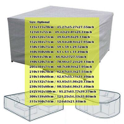 Outdoor Cover Garden Furniture Waterproof Patio Rattan Table Cube Set 8