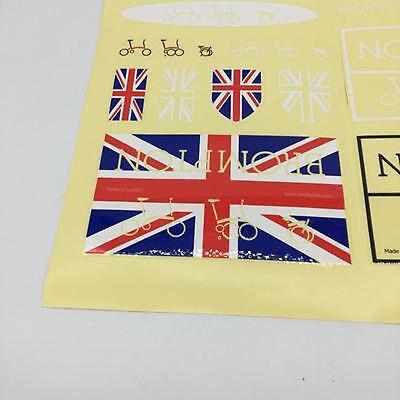 Free Shipping European Pattern Brompton Bicycle Metallic Frame Decal Sticker