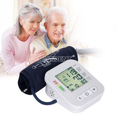 Automatic Digital Upper Arm Blood Pressure Monitor LCD Screen Heart Rate Beat US 8